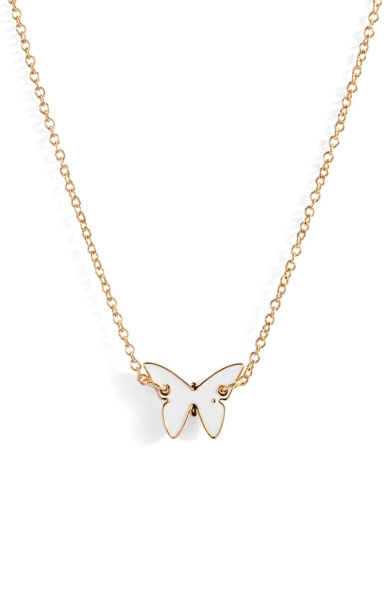 Jennifer Zeuner Mini Mariah Enamel Butterfly Necklace