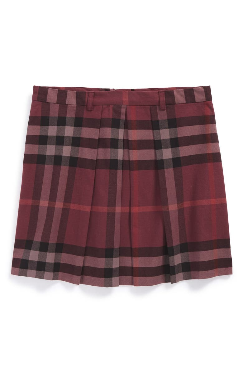 65db5fb67 Burberry Pleated Check Skirt (Little Girls & Big Girls) | Nordstrom