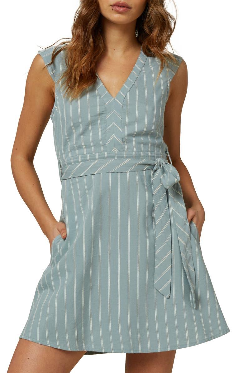O'NEILL Jamyson Stripe Dress, Main, color, PURITAN GRAY