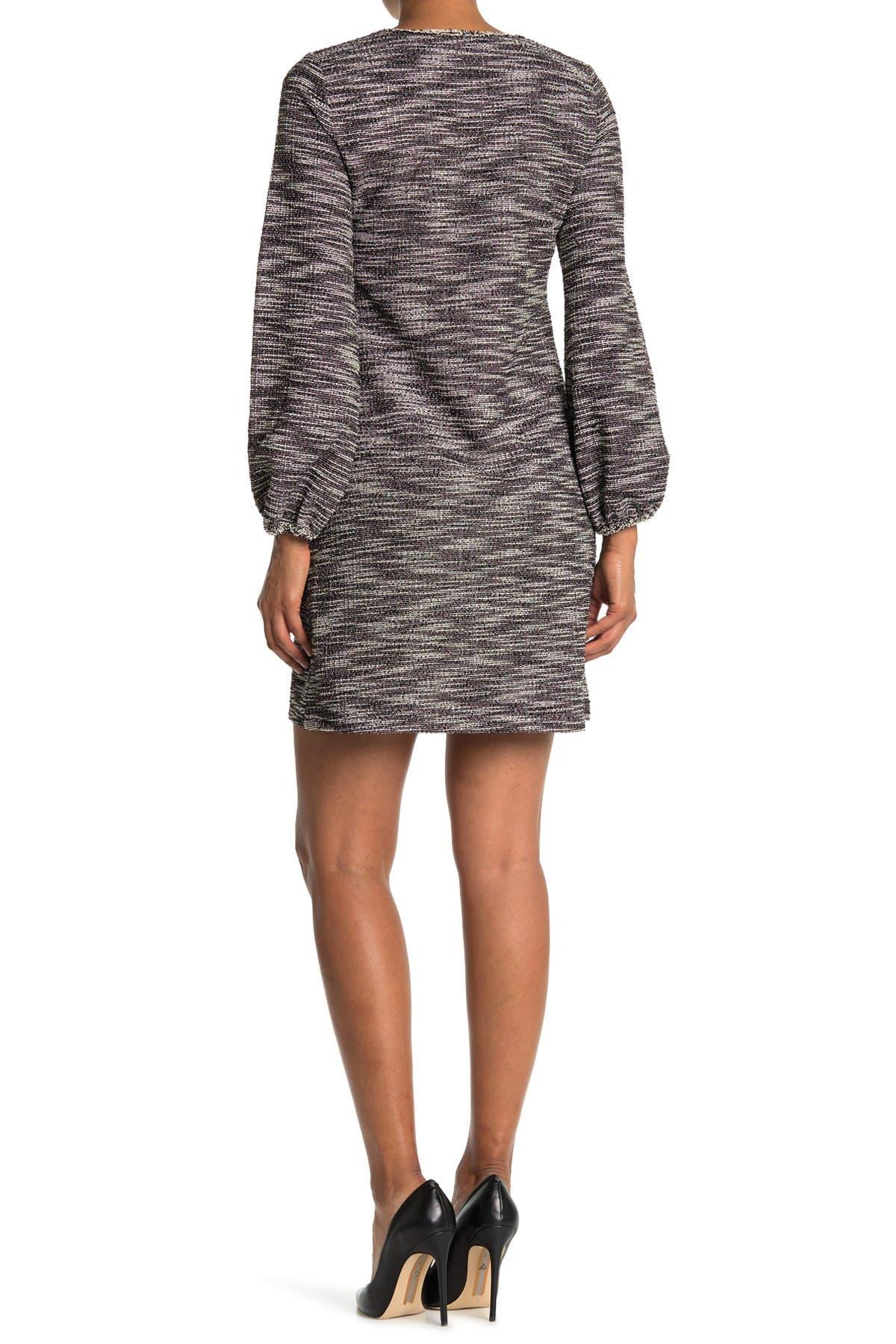 Image of Max Studio V-Neck Patch Pocket Shift Dress