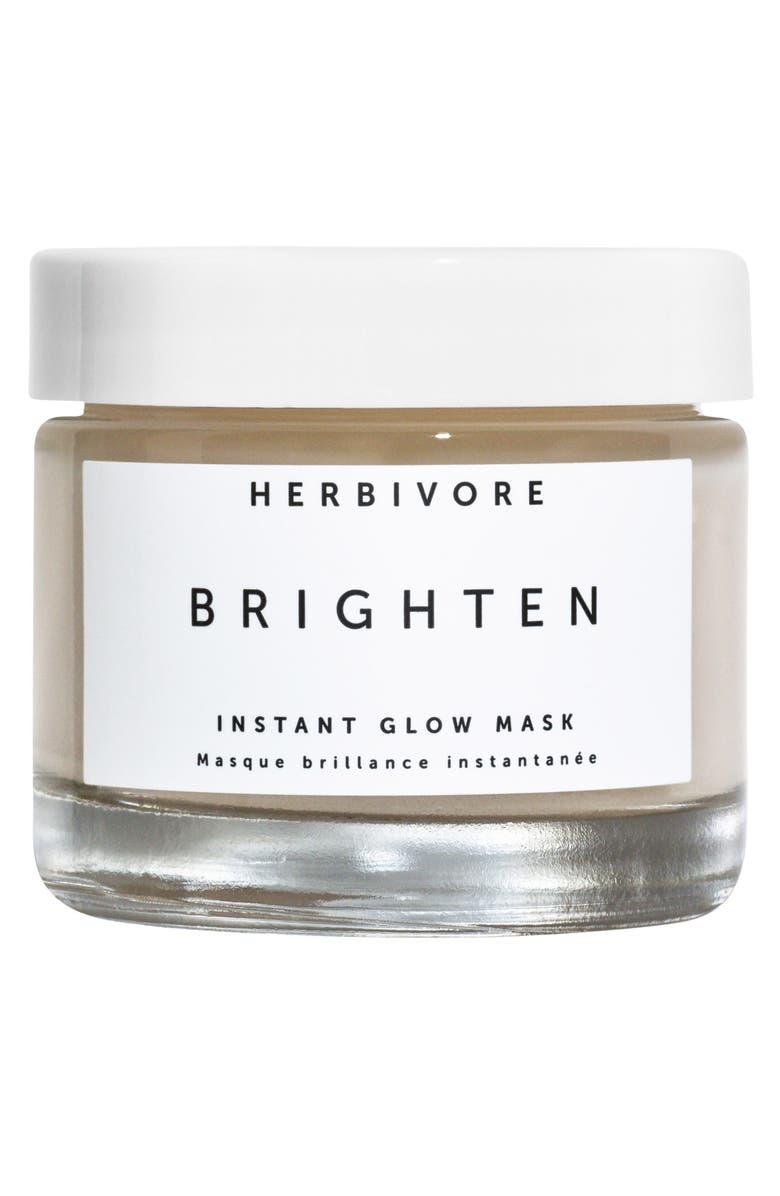 HERBIVORE BOTANICALS Brighten Pineapple Enzyme + Gemstone Instant Glow Mask, Main, color, NO COLOR
