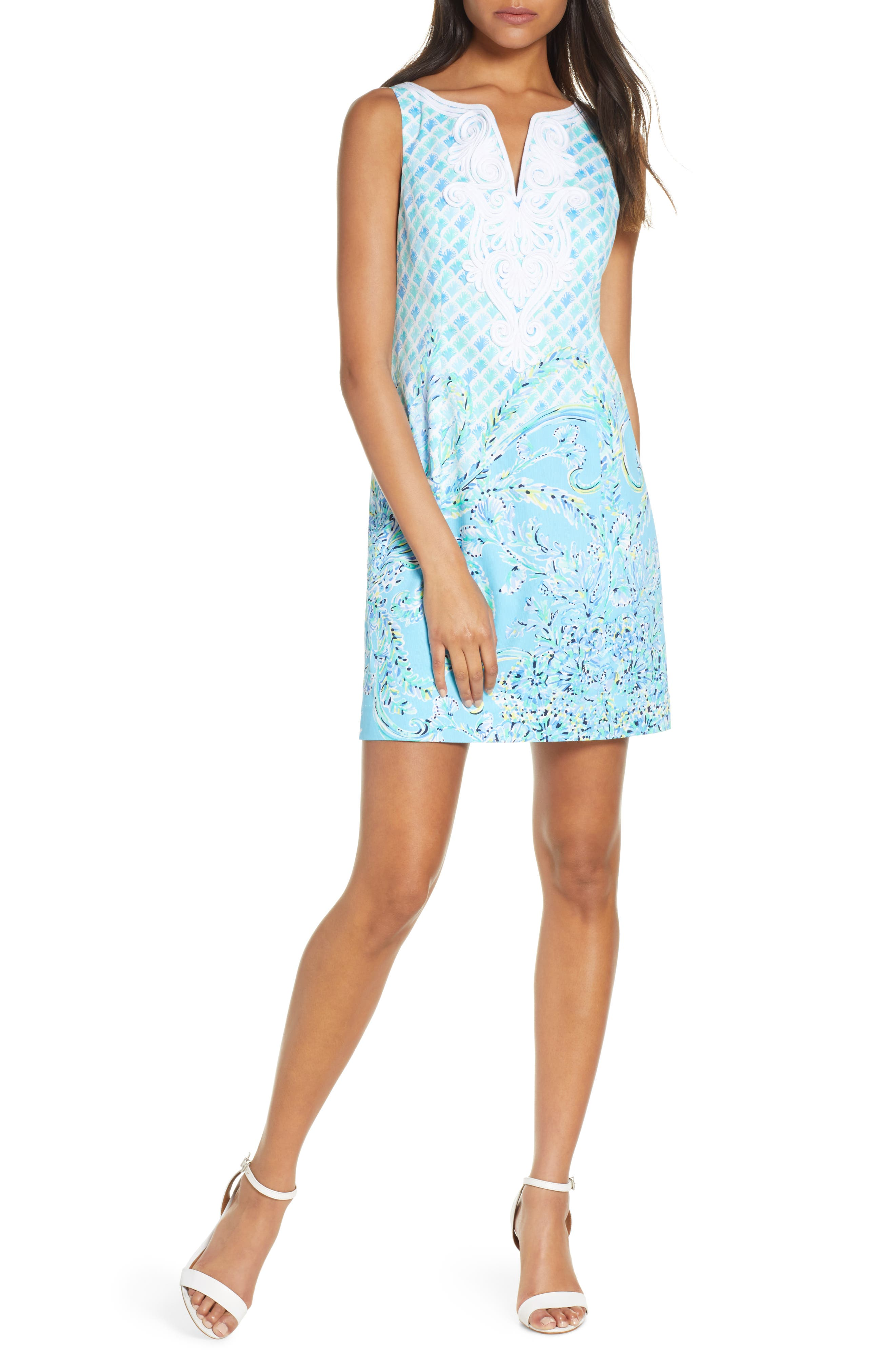 Lilly Pulitzer Gabby Stretch Sheath Dress, Blue