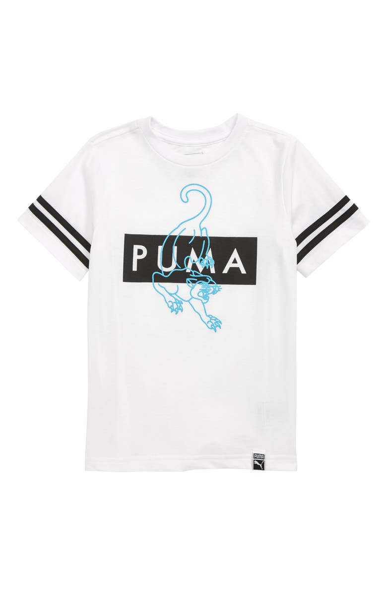 PUMA Puma Graphic T-Shirt, Main, color, 100