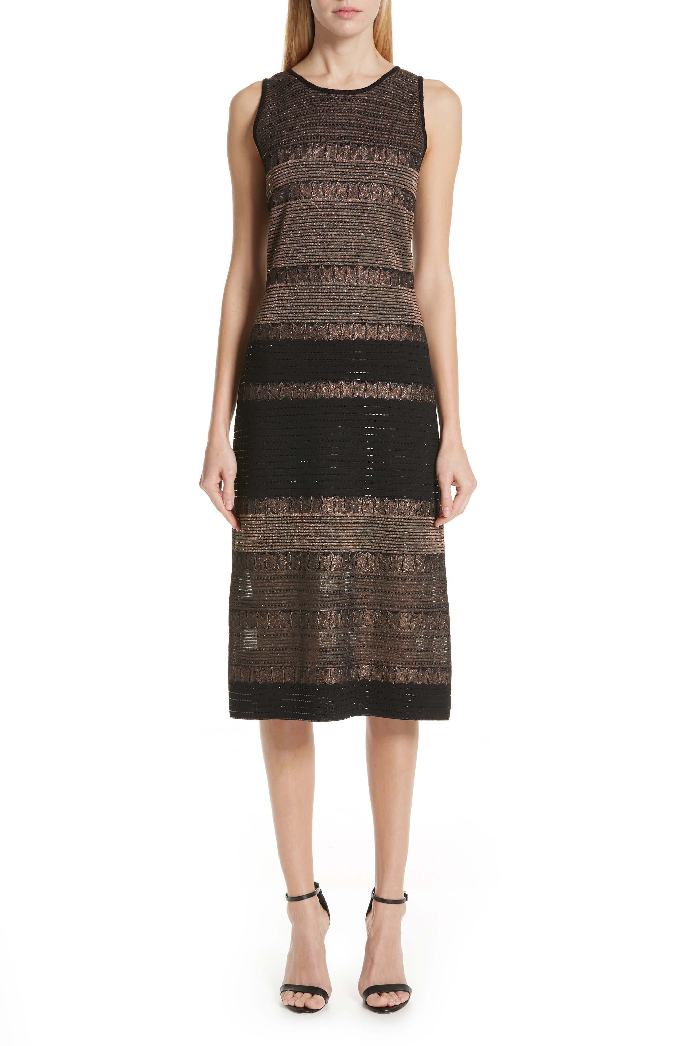 St. John Collection Aubrey Knit Dress, Black