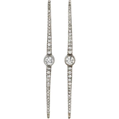 Sheryl Lowe Bezel Diamond Linear Spike Earrings