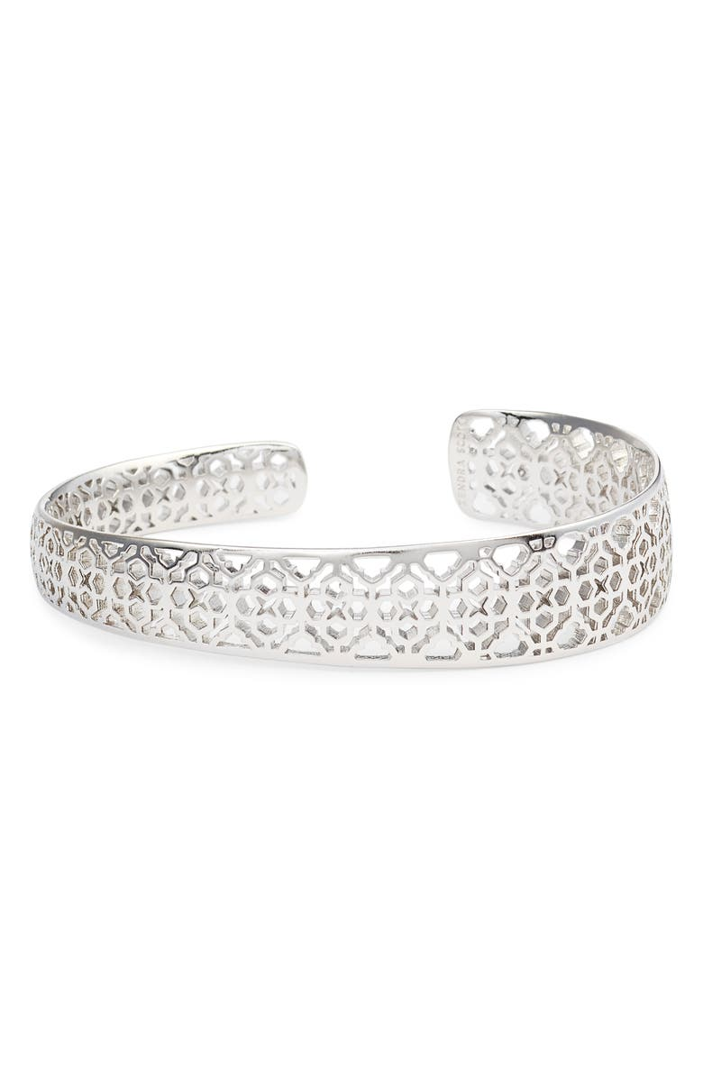 KENDRA SCOTT Uma Filigree Bracelet, Main, color, SILVER FILIGREE