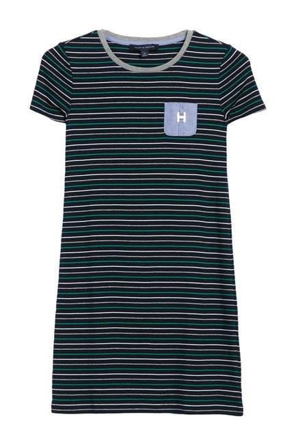 Image of Tommy Hilfiger Moxy Stripe Pocket T-Shirt Dress