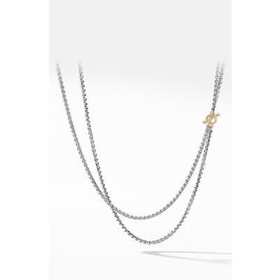 David Yurman Bel Aire Chain Necklace With 14K Yellow Gold