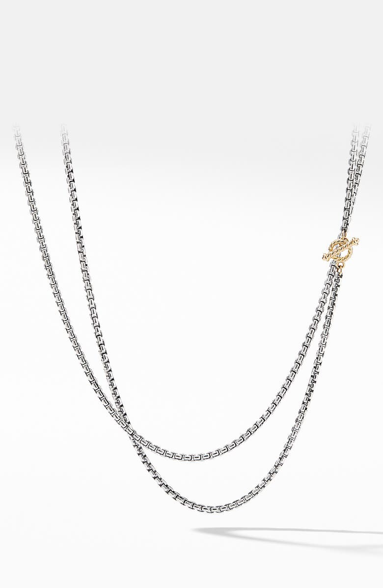 DAVID YURMAN Bel Aire Chain Necklace with 14K Yellow Gold, Main, color, SILVER/ GOLD