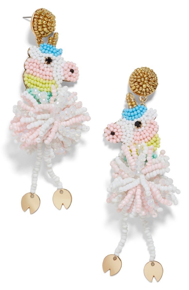 BAUBLEBAR Unicorn Drop Earrings, Main, color, PINK MULTI