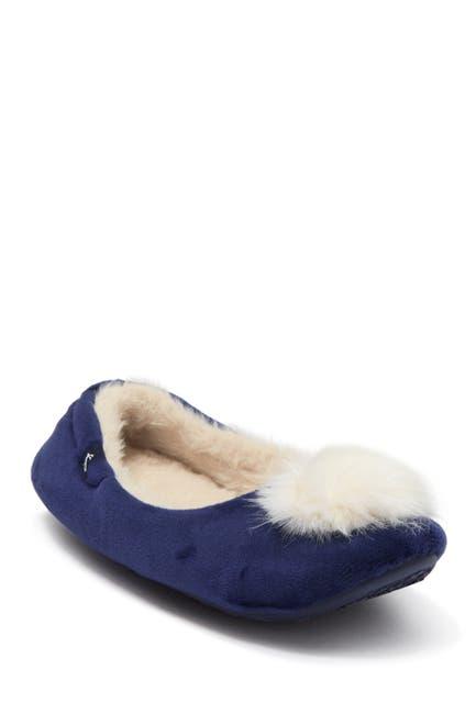 Image of Joules Pombury Faux Fur Ballet Slipper