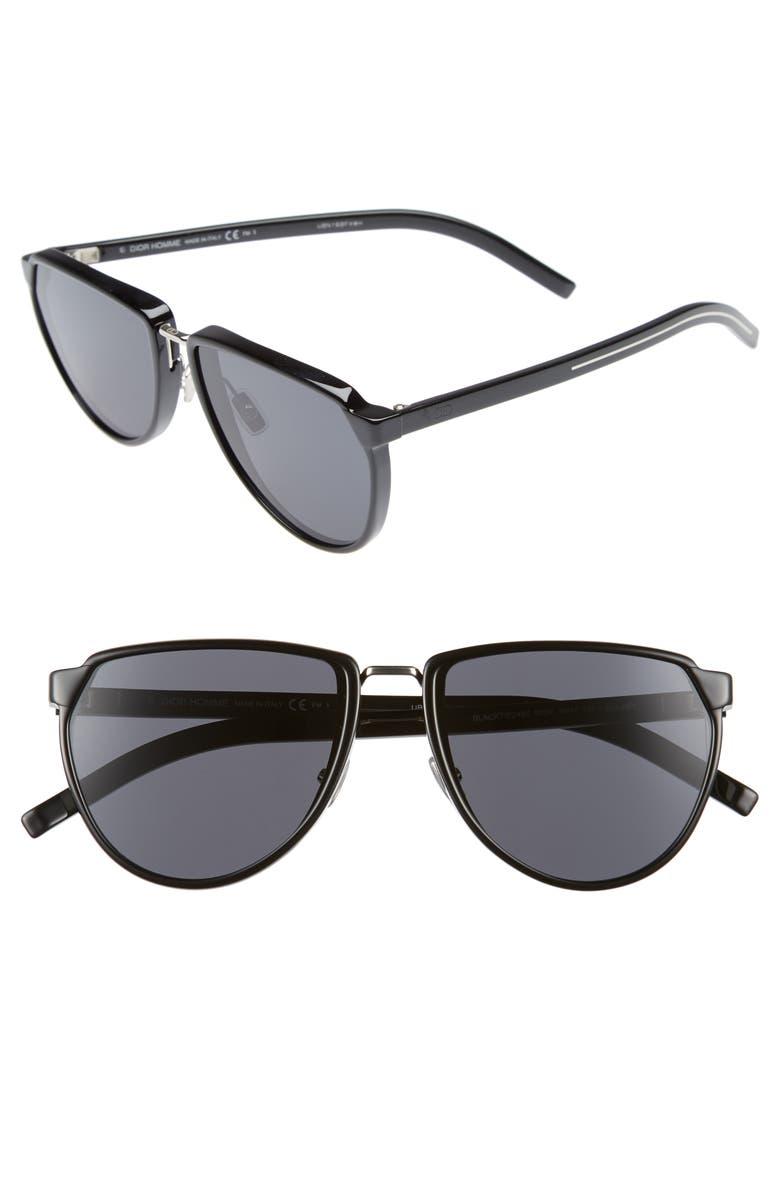 DIOR 58mm Sunglasses, Main, color, BLACK
