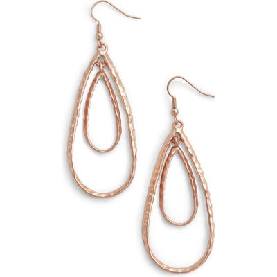 Karine Sultan Double Teardrop Link Drop Earrings