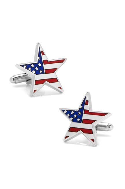 Image of Cufflinks Inc. American Flag Star Cuff Links