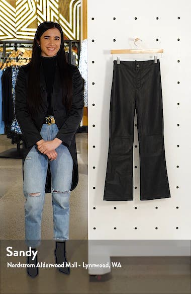 Sasha Crop Faux Leather Pants, sales video thumbnail