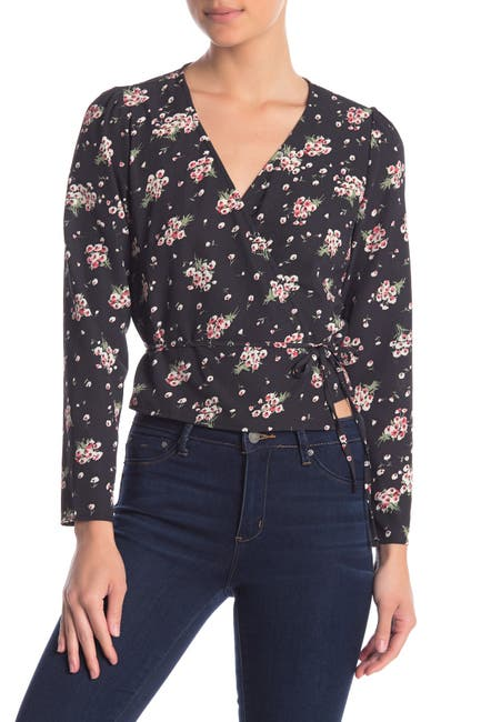 Image of Love + Harmony Floral Print Wrap Blouse