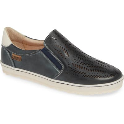 Pikolinos Lagos Perforated Slip-On Sneaker, Blue