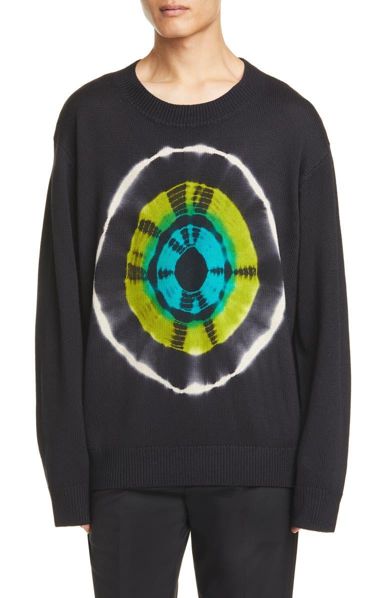 DRIES VAN NOTEN Tie Dye Loose Fit Sweater, Main, color, 001