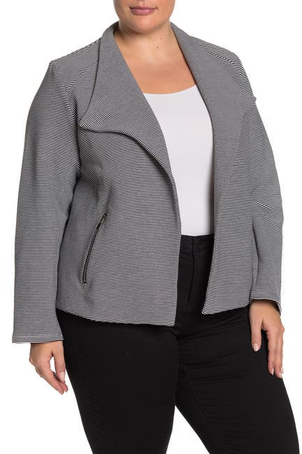 Image of Premise Studio Textured Zip Pocket Blazer