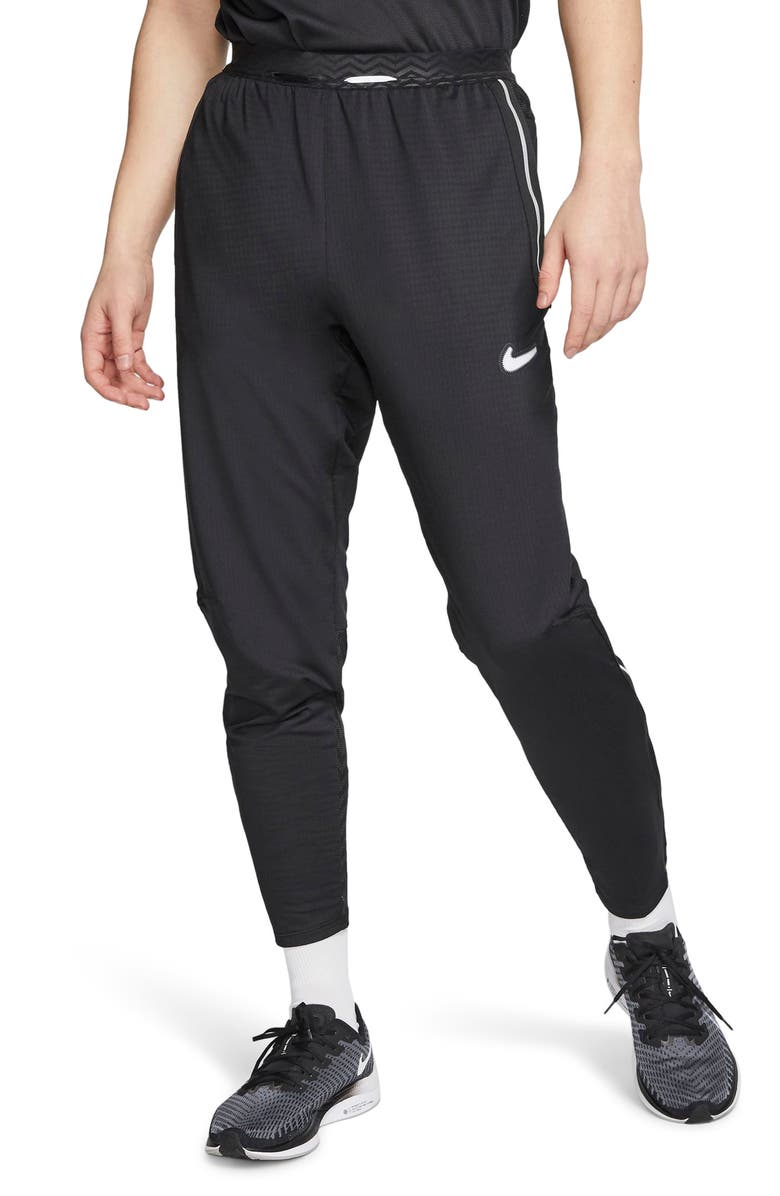 NIKE Dri-FIT Wild Run Phenom Hakone Performance Running Pants, Main, color, BLACK/ REFLECTIVE SILVER