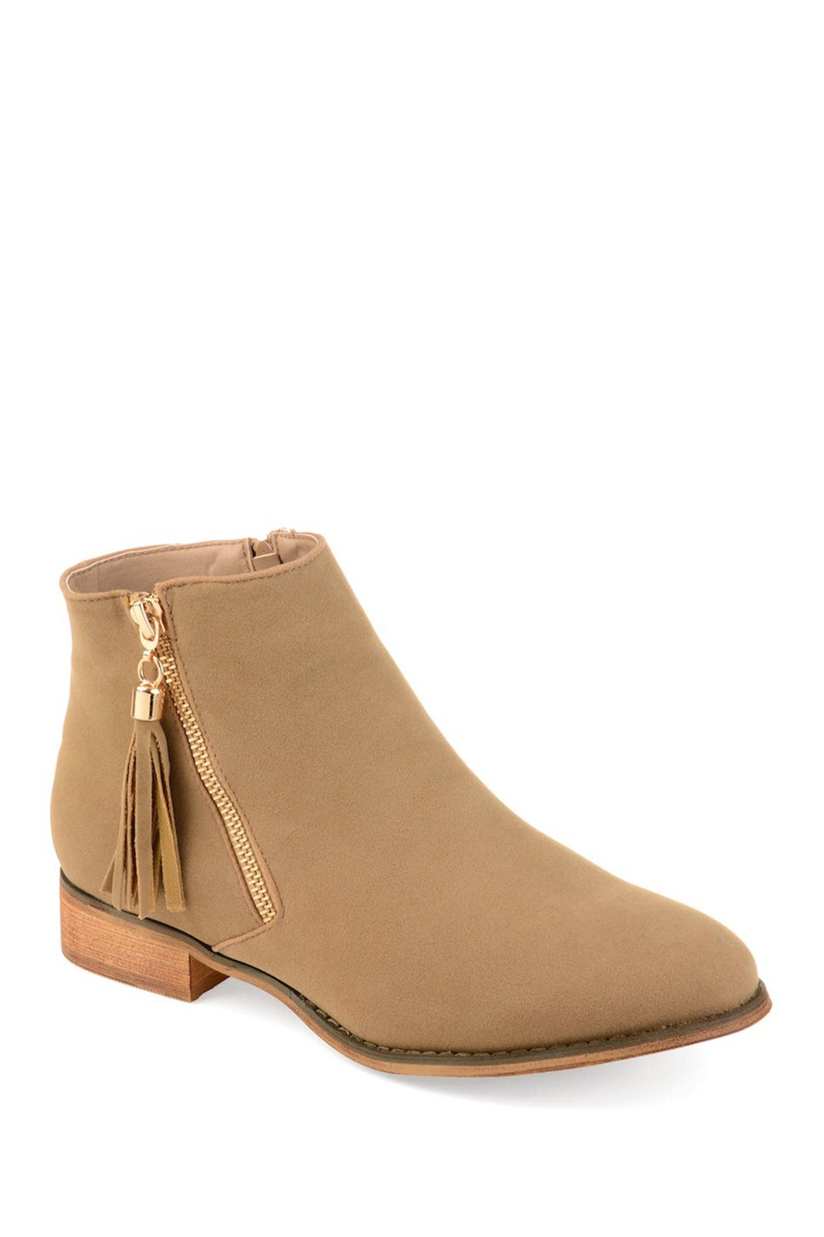 Image of JOURNEE Collection Trista Tassel Ankle Bootie