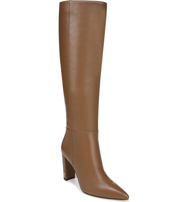 SAM EDELMAN Raakel Knee High Boot, Main, color, BROWN LEATHER