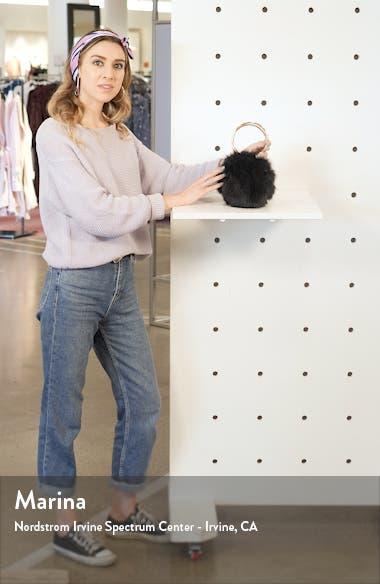 Ring Handle Faux Fur Clutch, sales video thumbnail