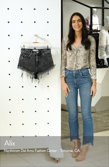 Kiri Acid Wash Cutoff Denim Shorts, sales video thumbnail