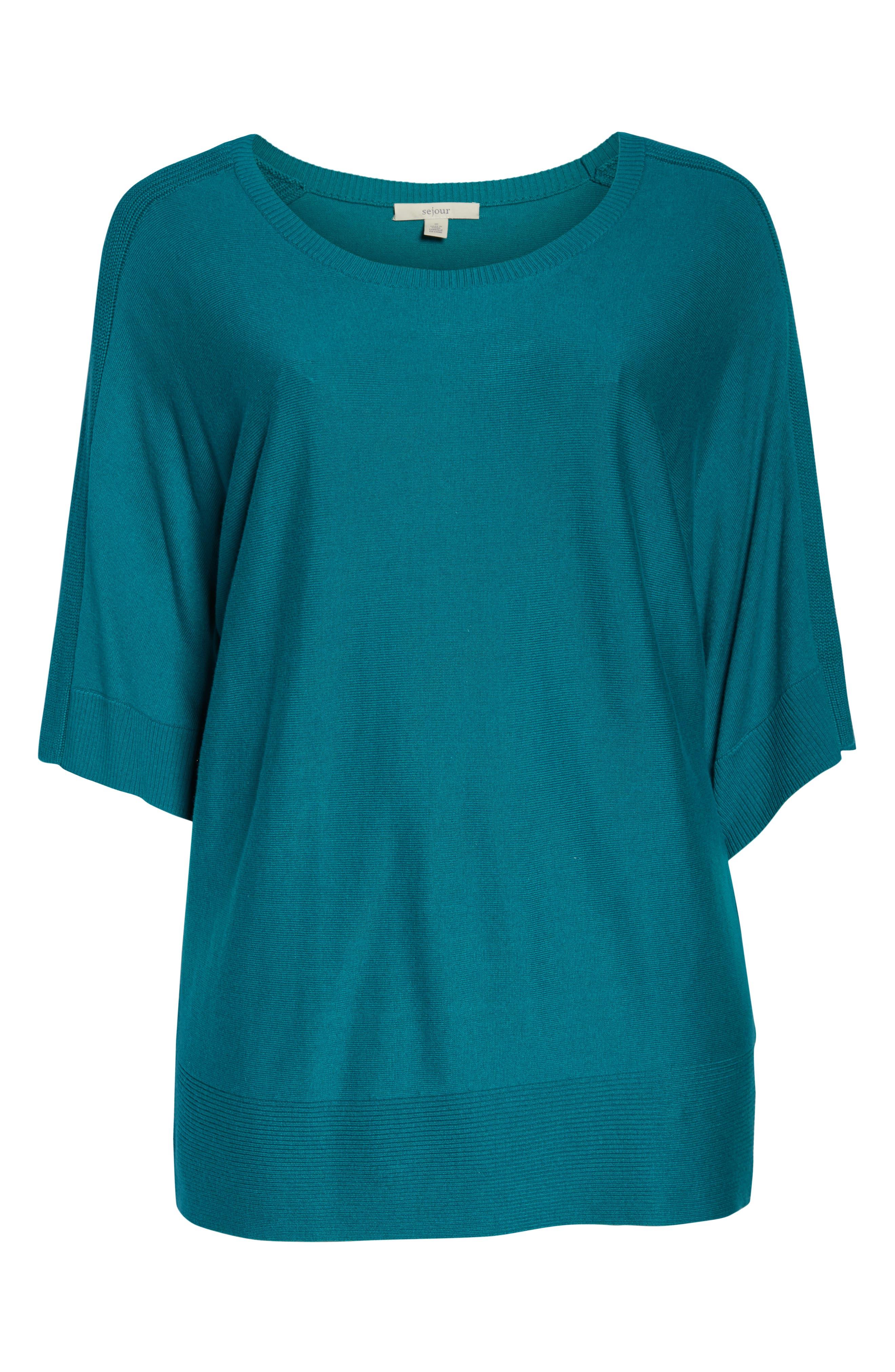 ,                             Cotton Blend Dolman Sleeve Sweater,                             Alternate thumbnail 12, color,                             440