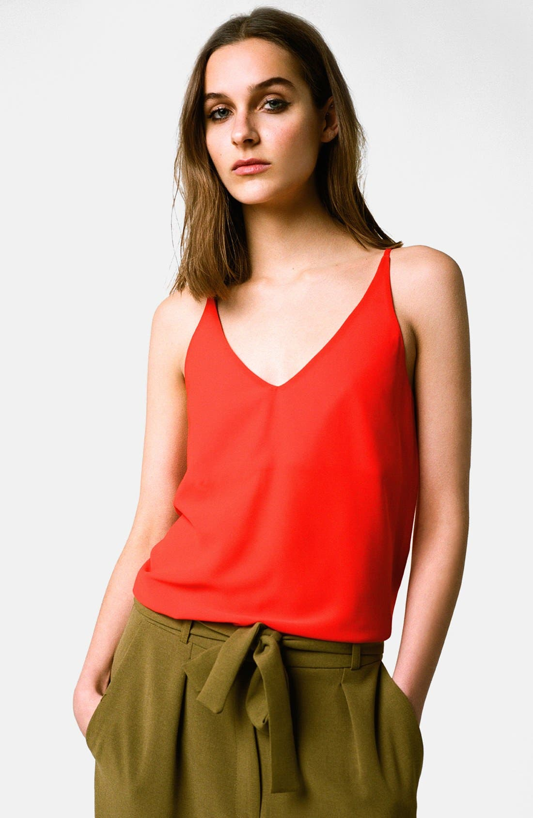 ,                             Strappy V-Neck Camisole,                             Alternate thumbnail 48, color,                             600