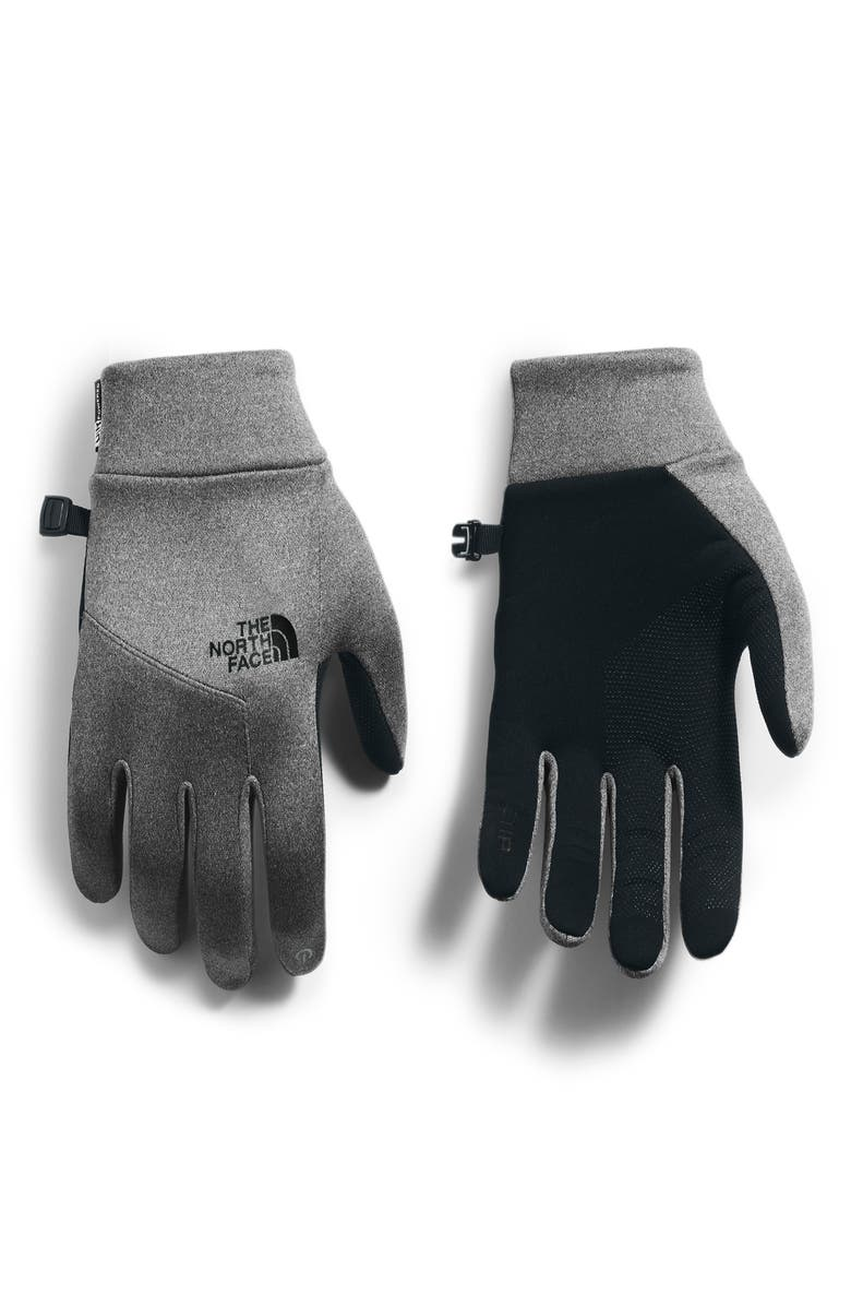 THE NORTH FACE Etip<sup>™</sup> Hardface Tech Gloves, Main, color, TNF MEDIUM GREY HEATHER