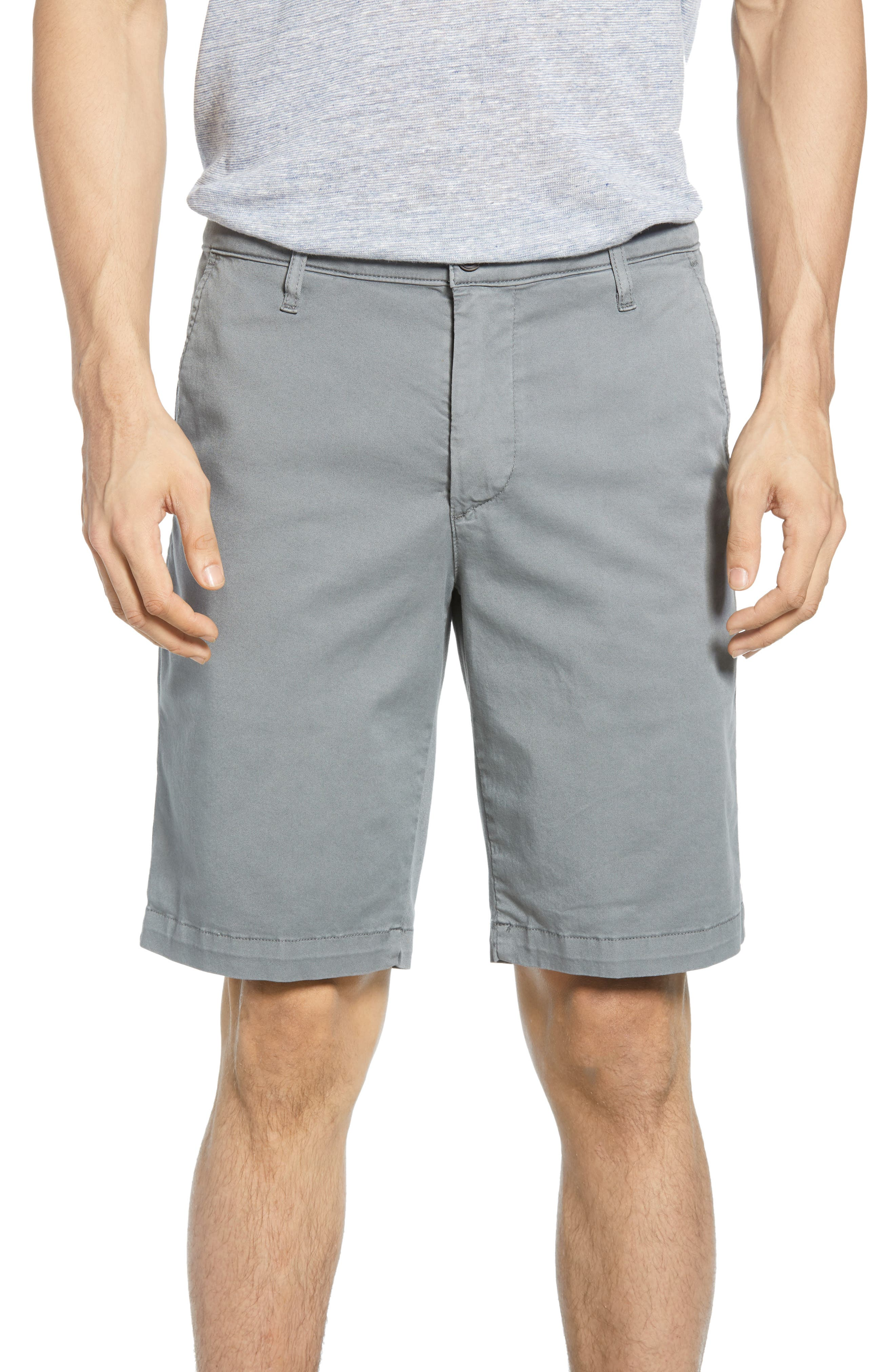 Griffin Regular Fit Shorts, Main, color, SULFU FOG BEACON