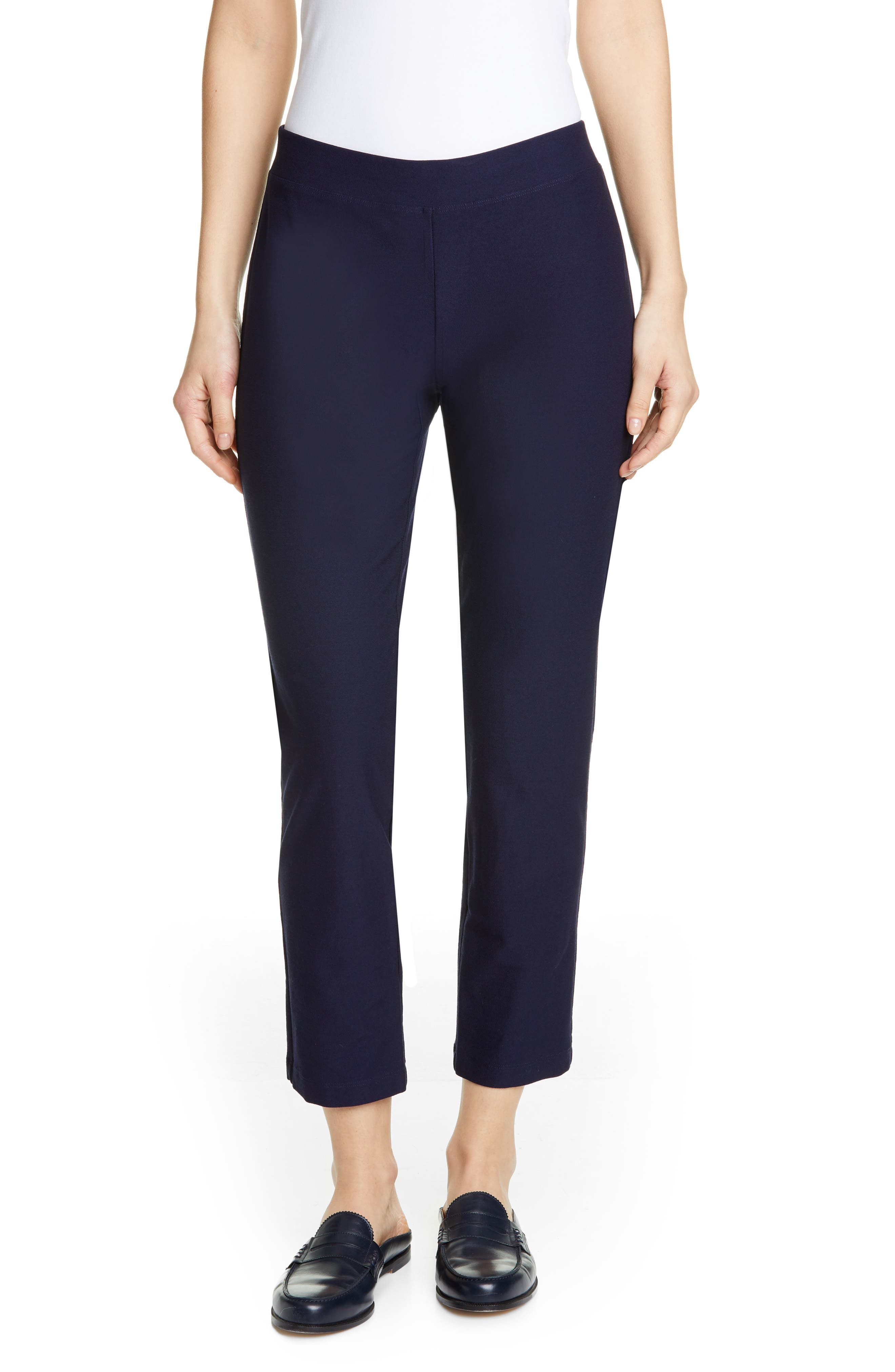 Women's Eileen Fisher Stretch Crepe Slim Ankle Pants