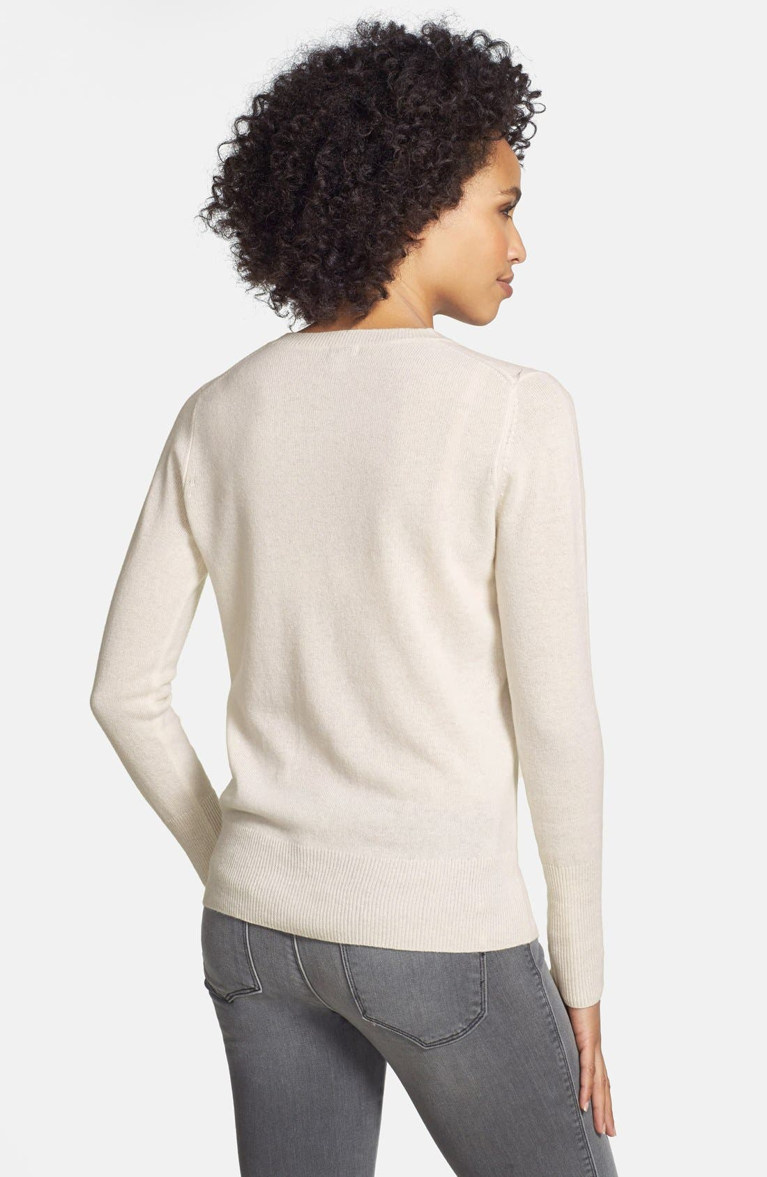 ,                             Cashmere V-Neck Sweater,                             Alternate thumbnail 90, color,                             900