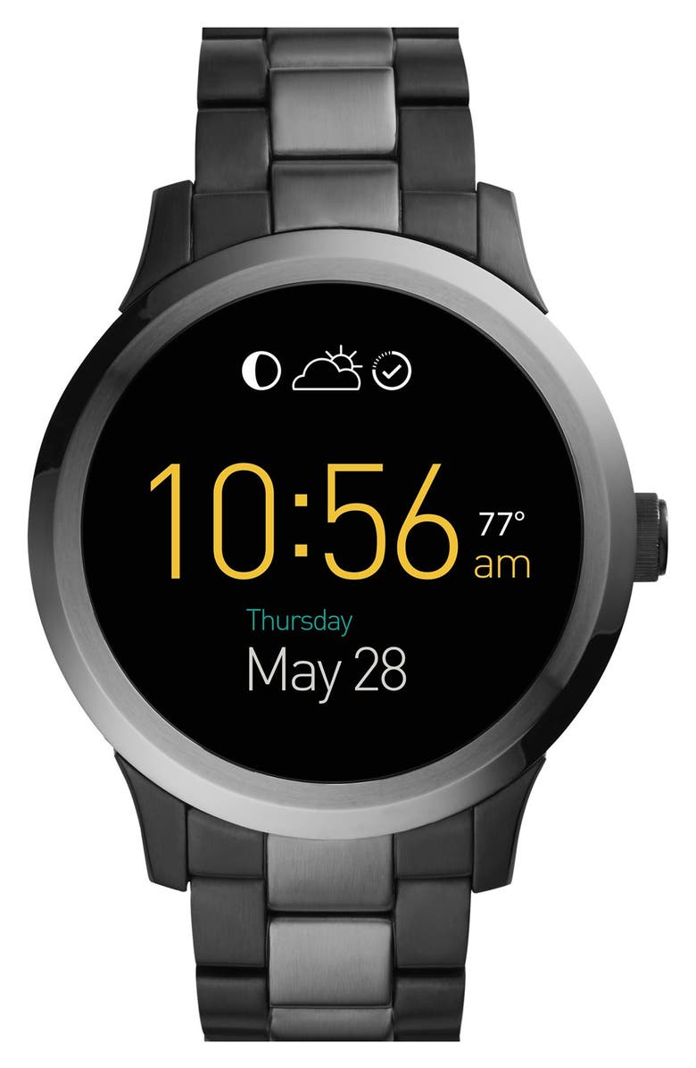 FOSSIL Q Fossil 'Fossil Q - Founder' Round Bracelet Smart Watch, 47mm, Main, color, 001