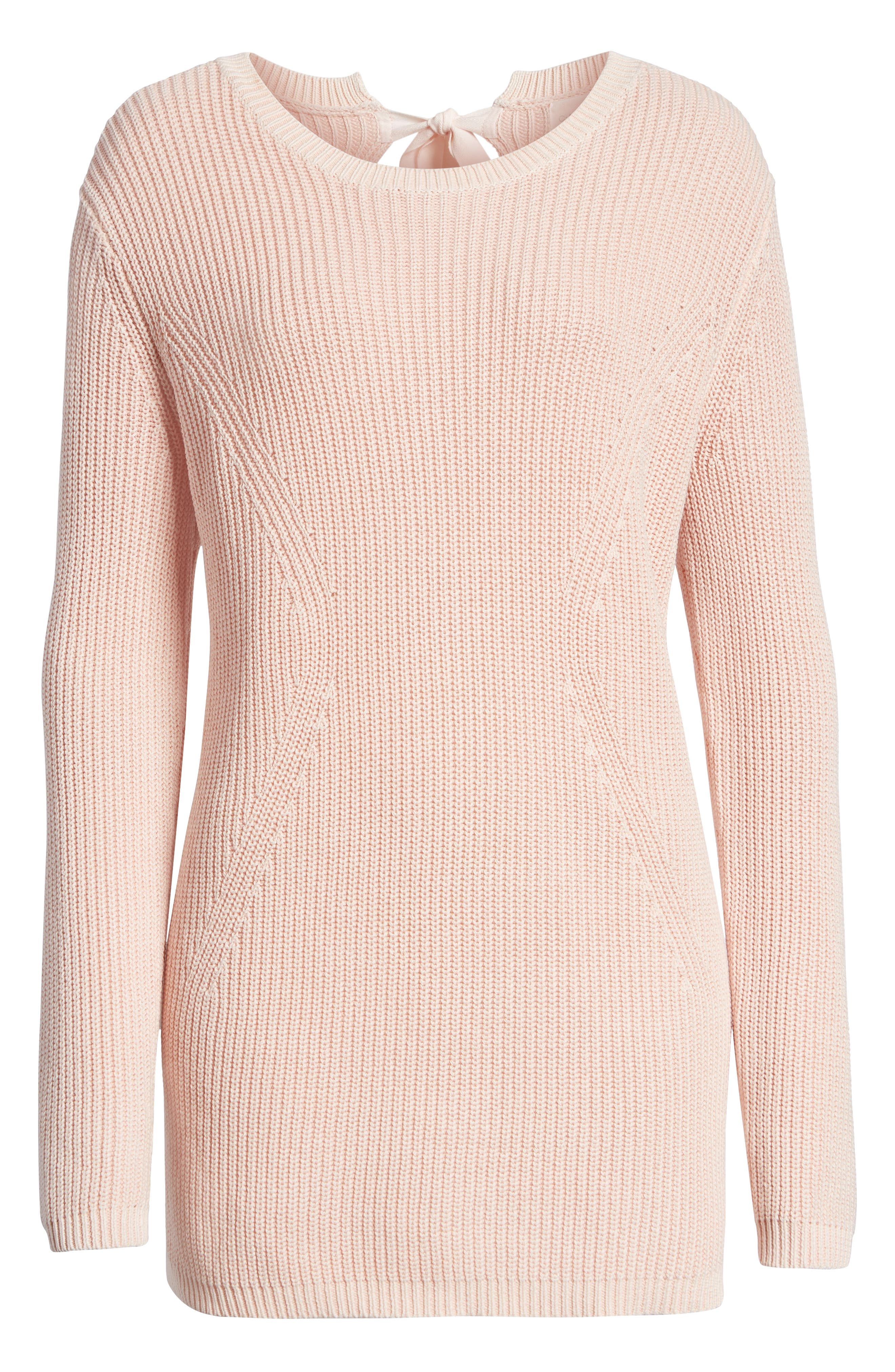 ,                             Tie Back Tunic Sweater,                             Alternate thumbnail 42, color,                             681