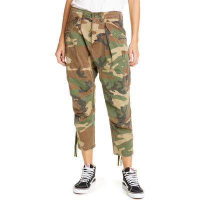 R13 Camo Crop Cargo Pants, Green