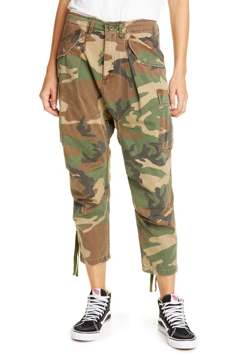 R13 Camo Crop Cargo Pants, Main, color, CAMO