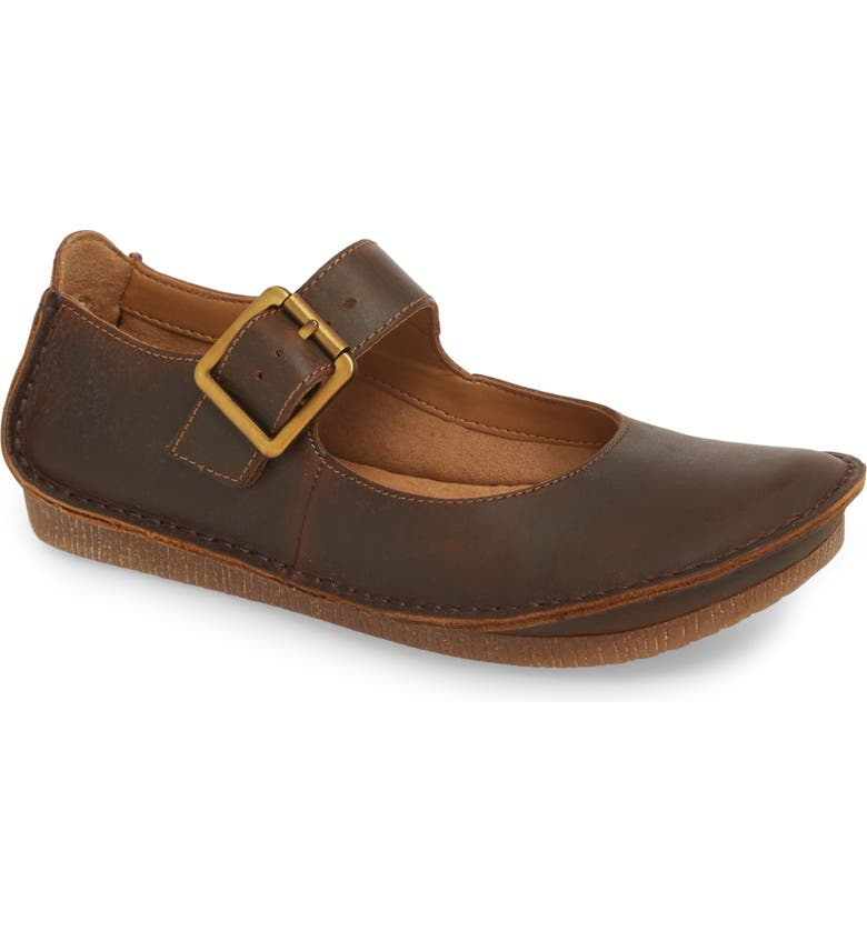 CLARKS<SUP>®</SUP> Clarks Janey June Flat, Main, color, BEESWAX LEATHER