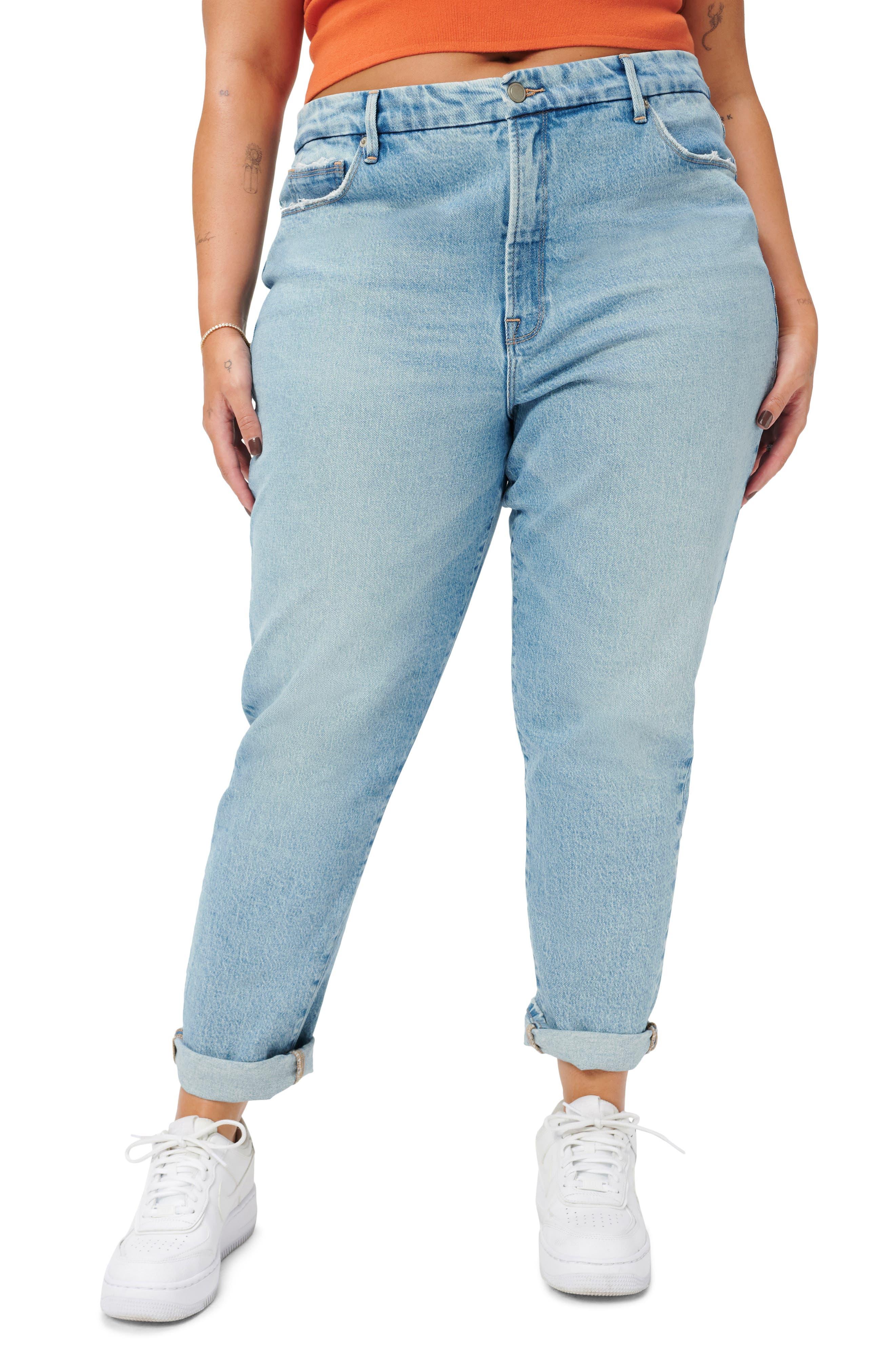 Good Girlfriend High Waist Straight Leg Jeans