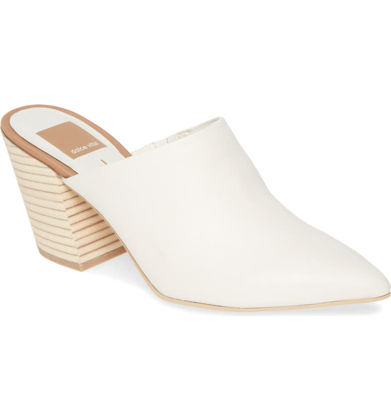 DOLCE VITA Angela Pointy Toe Mule, Main, color, WHITE LEATHER