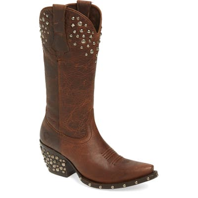 Ariat Calypso Studded Western Boot, Brown