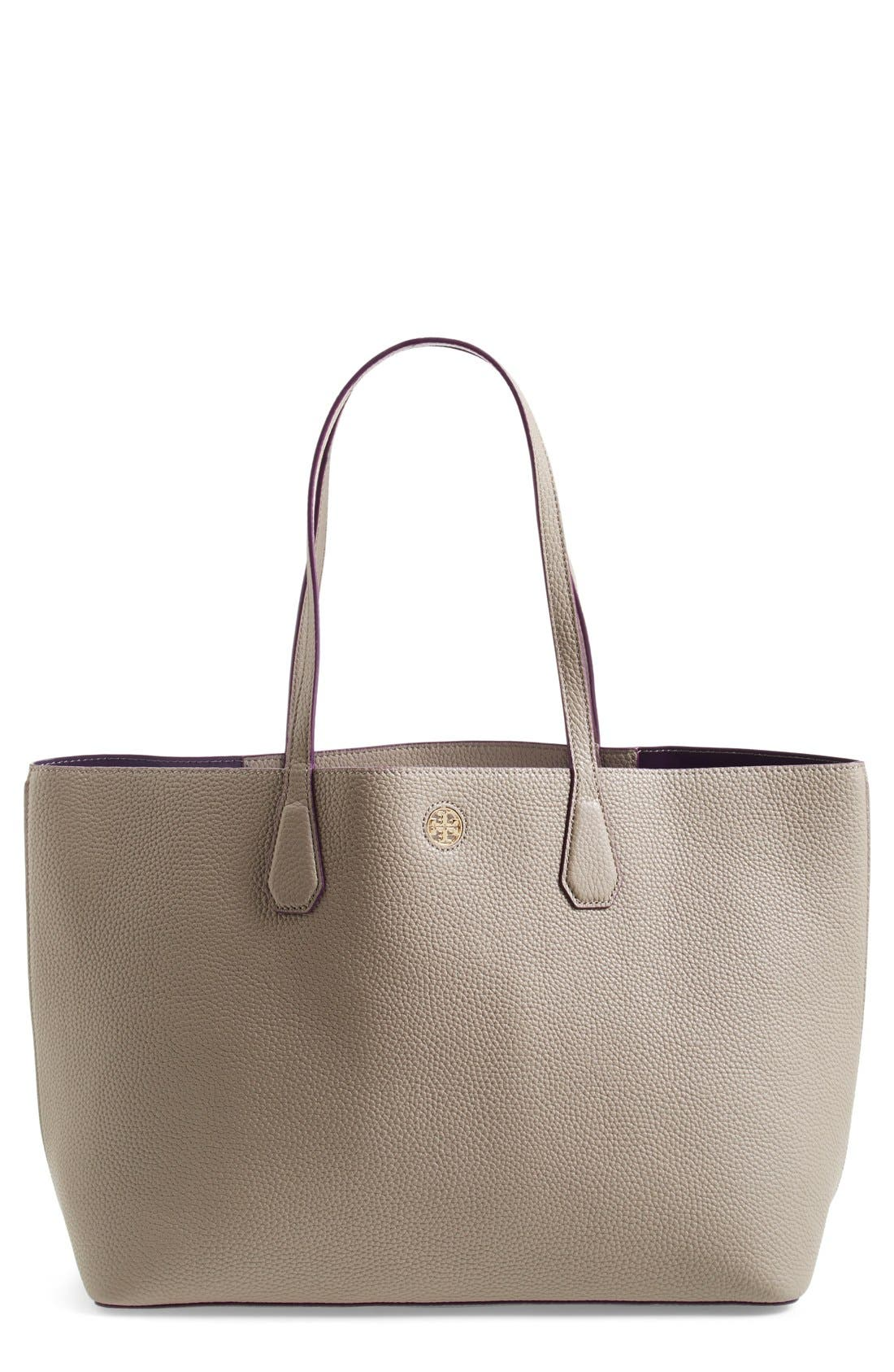 ,                             'Perry' Leather Tote,                             Main thumbnail 3, color,                             020