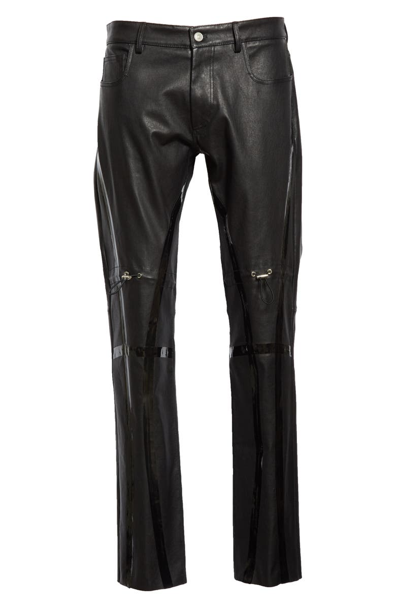 1017 ALYX 9SM Gaiter Leather Pants, Main, color, BLACK