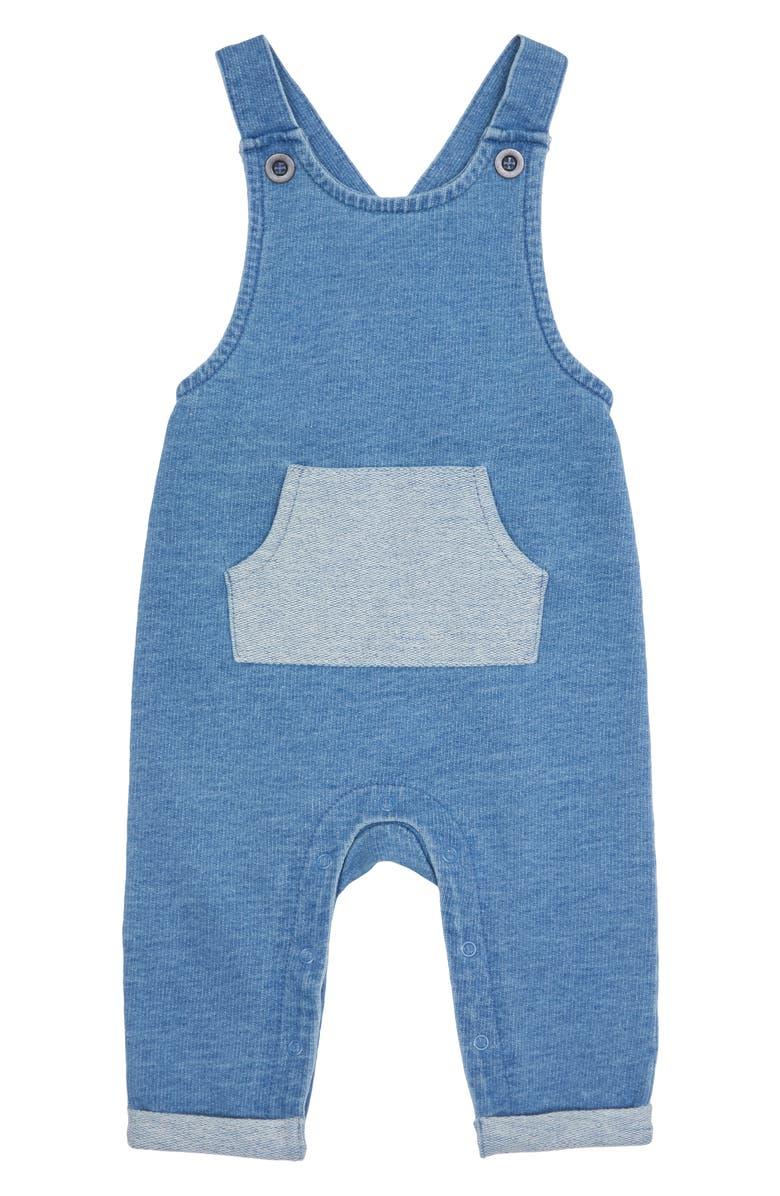 PEEK ESSENTIALS Nova Indigo Knit Overalls, Main, color, 401