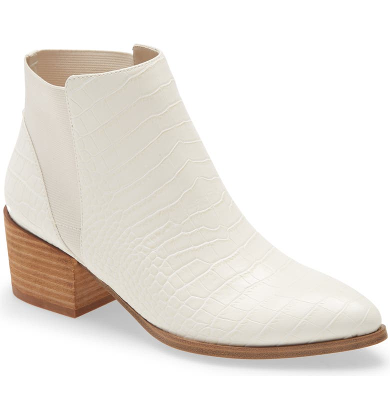 CHINESE LAUNDRY Finn Bootie, Main, color, CREAM FAUX LEATHER