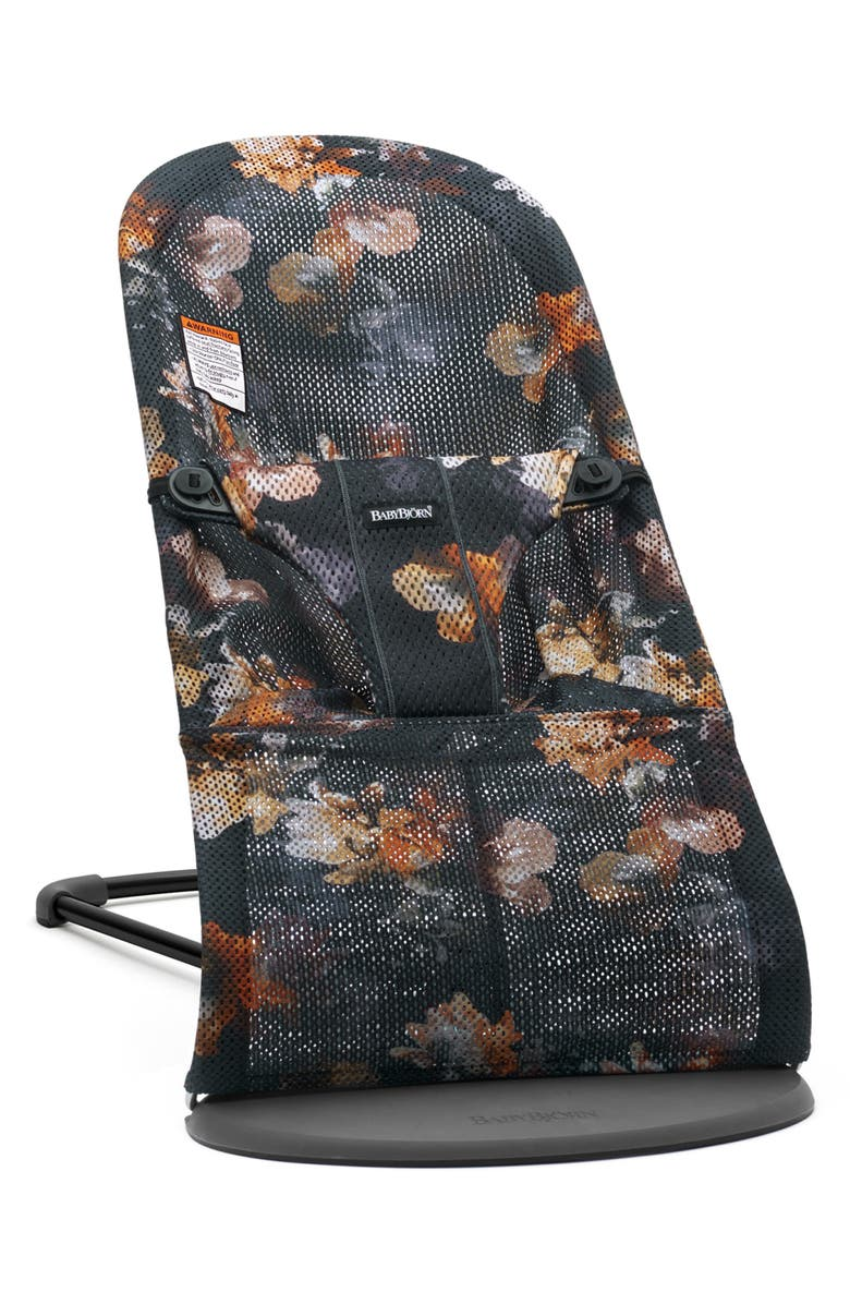 BABYBJÖRN Bouncer Bliss Convertible Mesh Baby Bouncer, Main, color, MIDNIGHT FLORAL