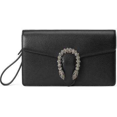 Gucci Leather Wristlet - Black