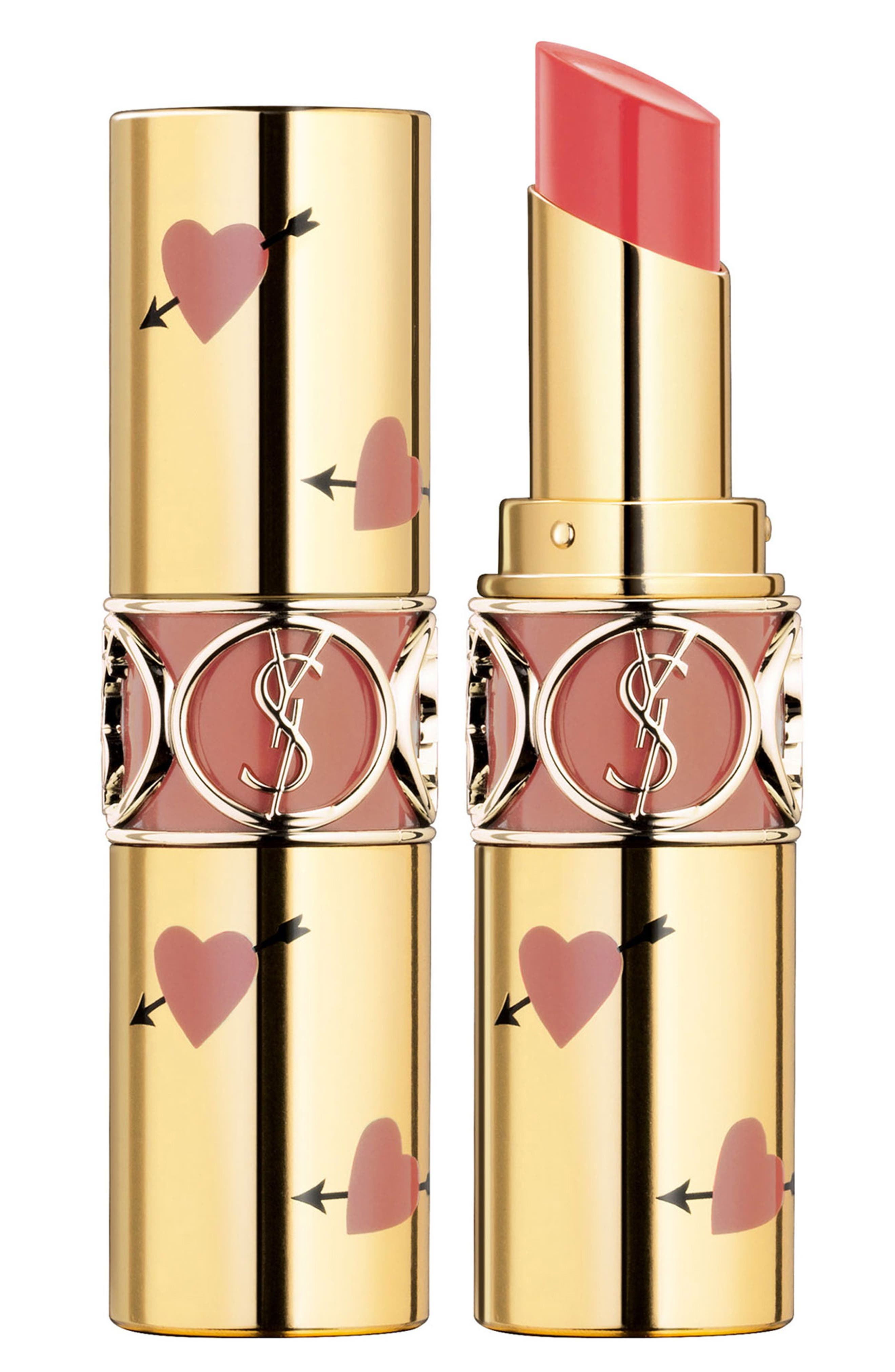 Yves Saint Laurent Heart And Arrow Rouge Volupte Shine Collector Oil-In-Stick Lipstick - 12 Corail Dolman