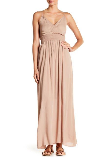 Image of WEST KEI Solid Sleeveless Gauze Maxi Dress